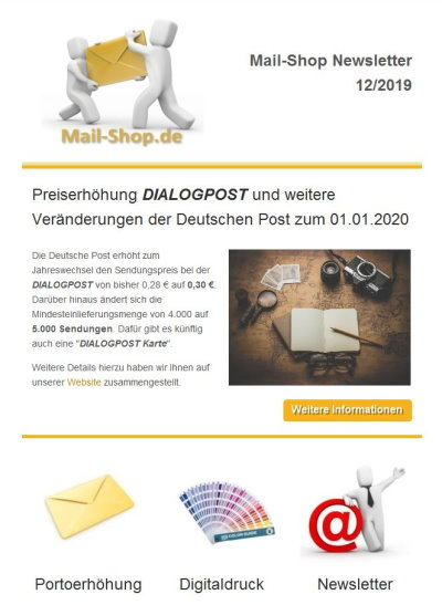 Responsive Mail Desktop-Version